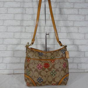 Rare Coach F22223 Peyton Clover Shoulder Bag Hobo